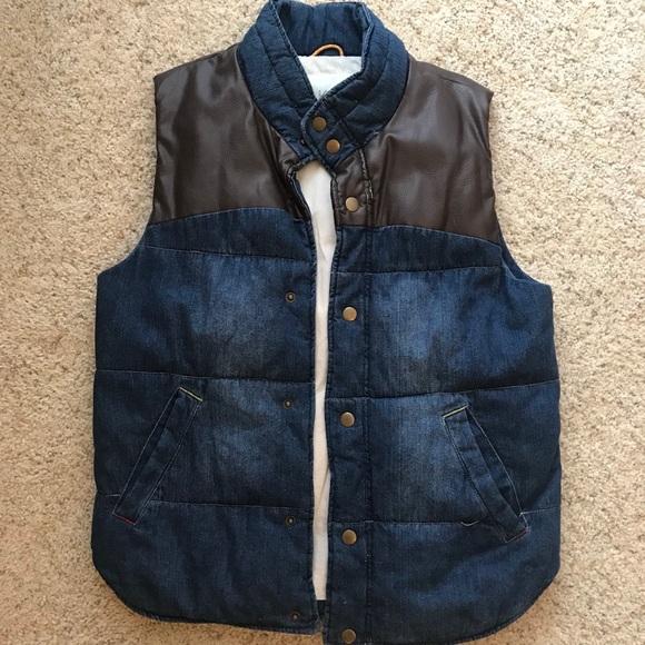 96e669f0b22 koto Jackets & Coats | Mens Denim Puffy Vest | Poshmark